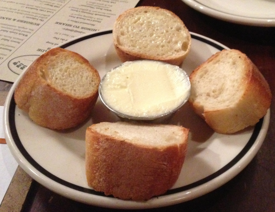 Toasty bread with butter.