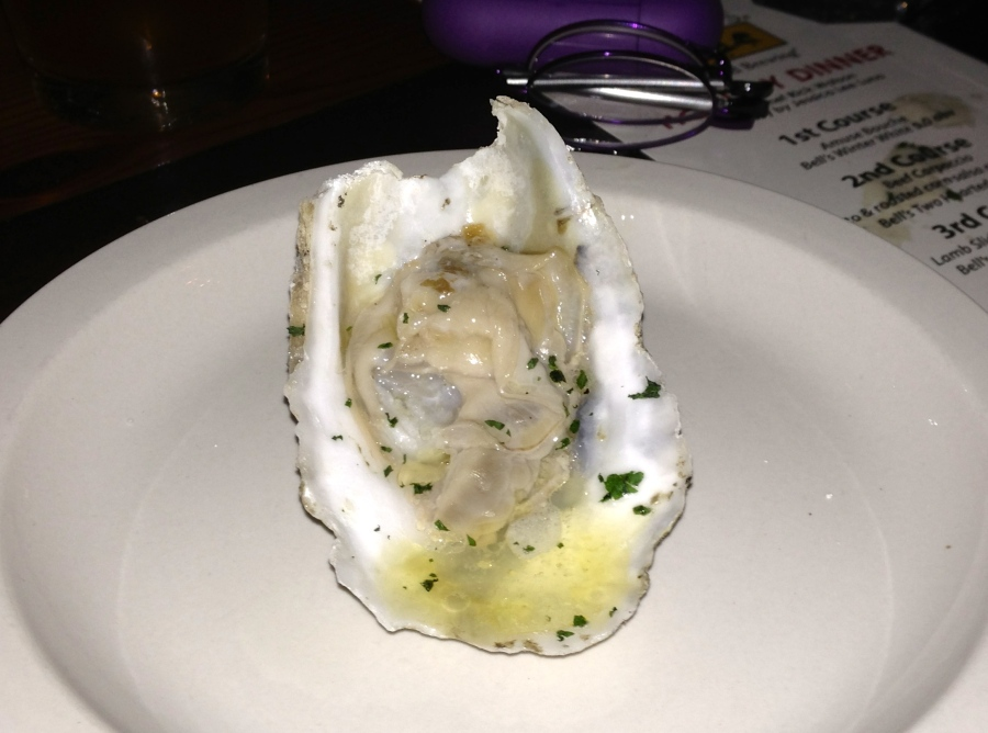 This oyster was grilled.