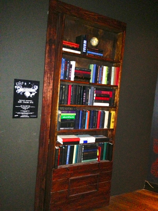 A bookcase, or a secret entrance?