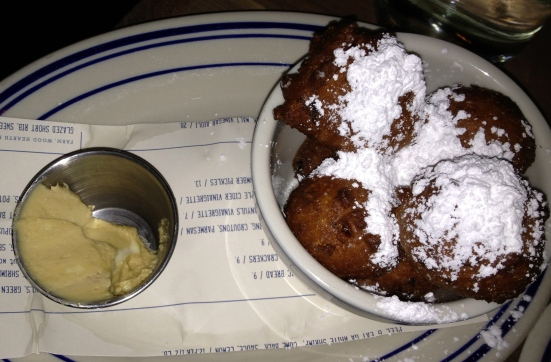 They look like beignets, but they are really hush puppies.