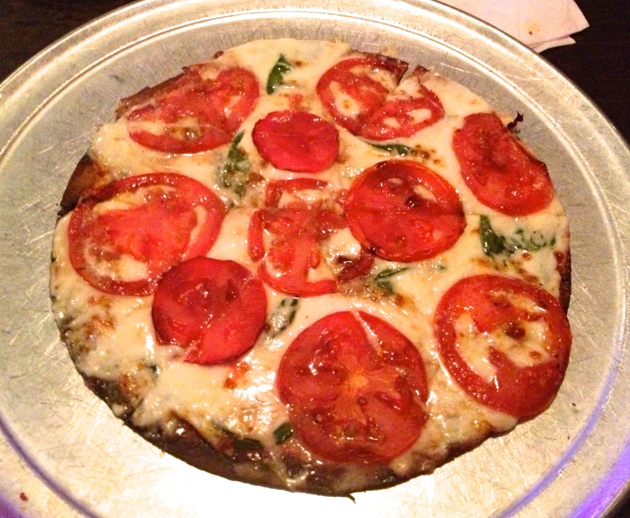 Margherita pizza.  Can you smell the basil?