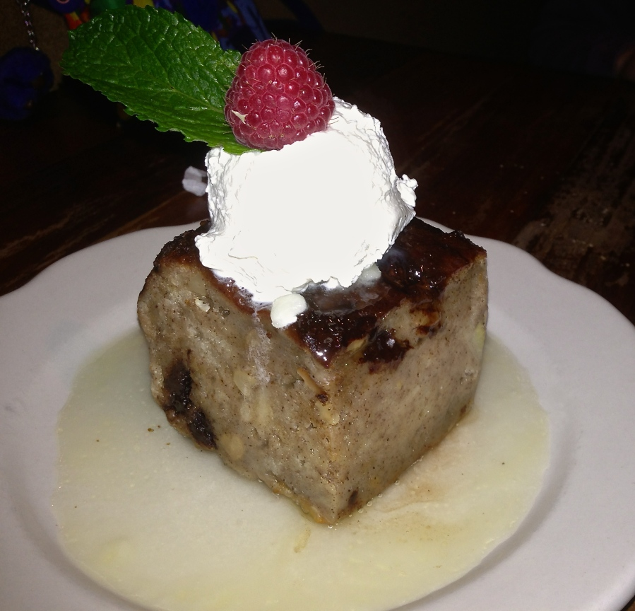 Awesome bread pudding.