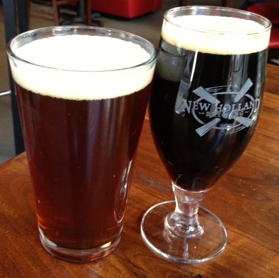 Red Hare Watership Brown and New Holland Dragon's Milk.  Thirsty?