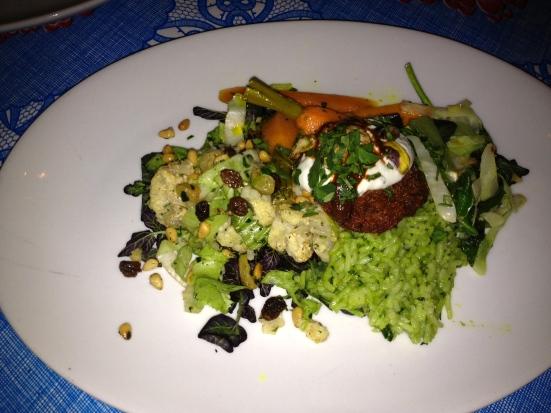Half a veggie plate.
