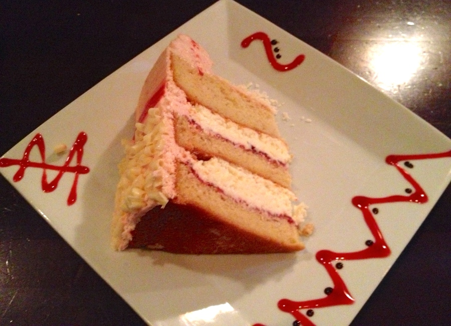 Our choice: raspberry mousse cake!