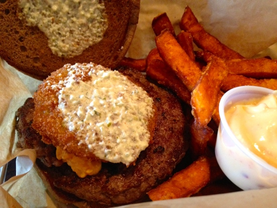 The Moxie burger.  Yummmm.