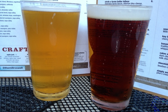 Hennepin Saison and Truck Stop Honey Brown