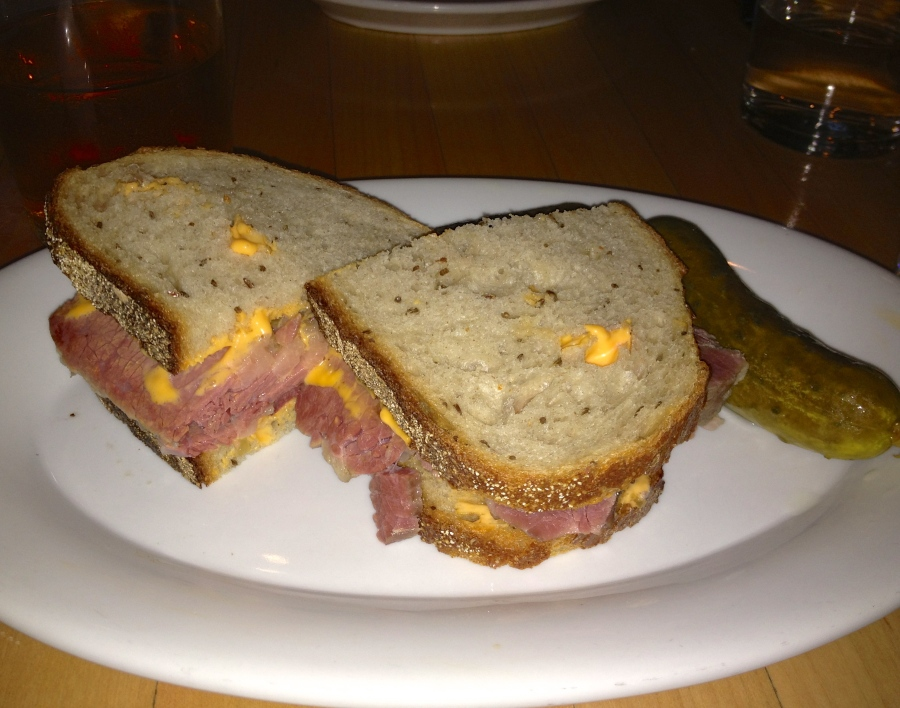 The star of tonight's show, the corned beef.
