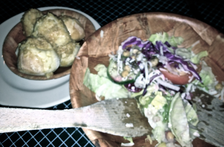The salad and garlic rolls, unchanged for 33 years.