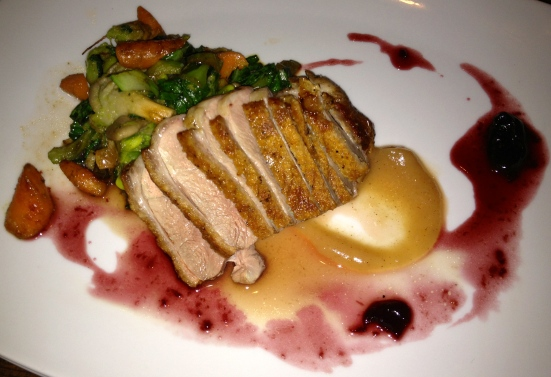 Duck breast, medium.