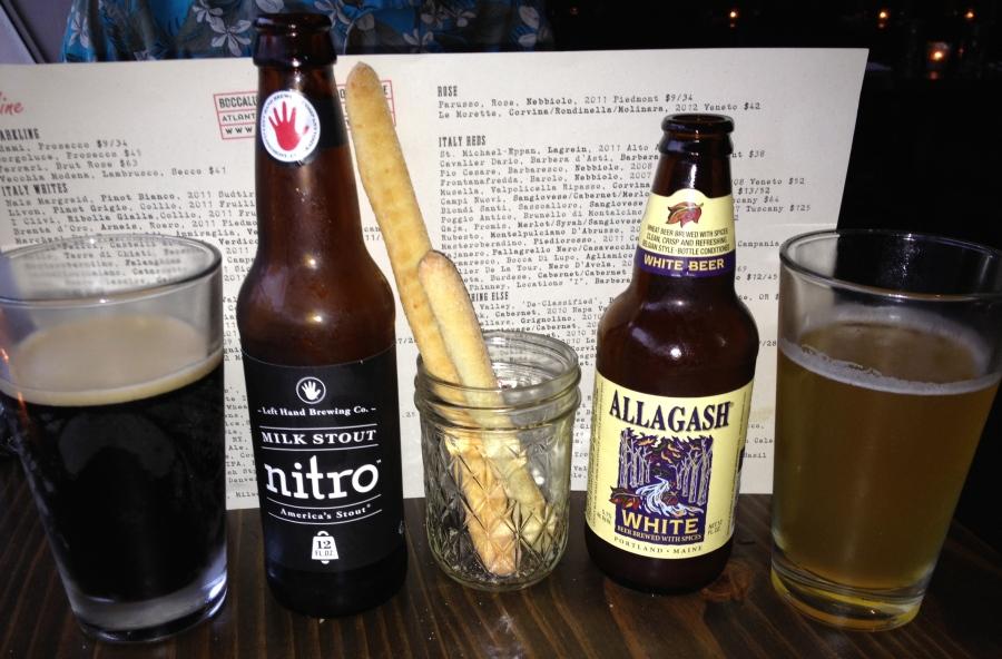 Beer gets us started.