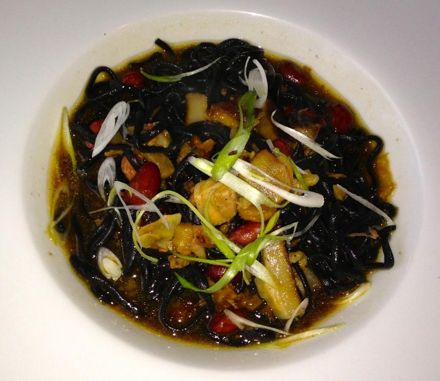 Black squid ink pasta at BoccaLuppo.