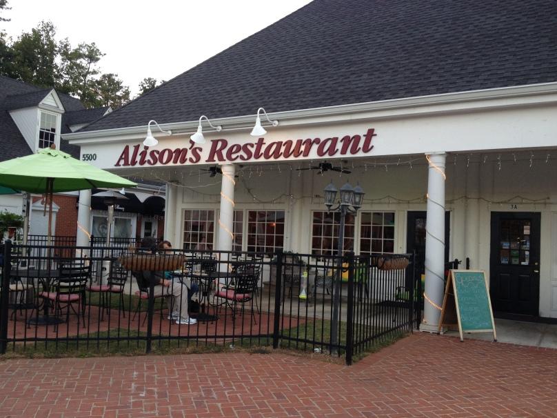Alison's Restaurant: 10/11/13
