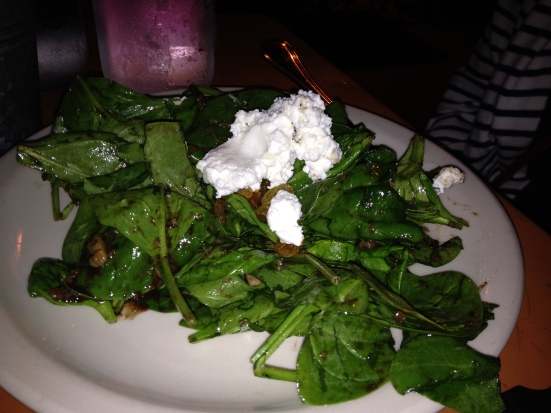 "Insalata di Spinaci, which translates to ""spinach salad""."